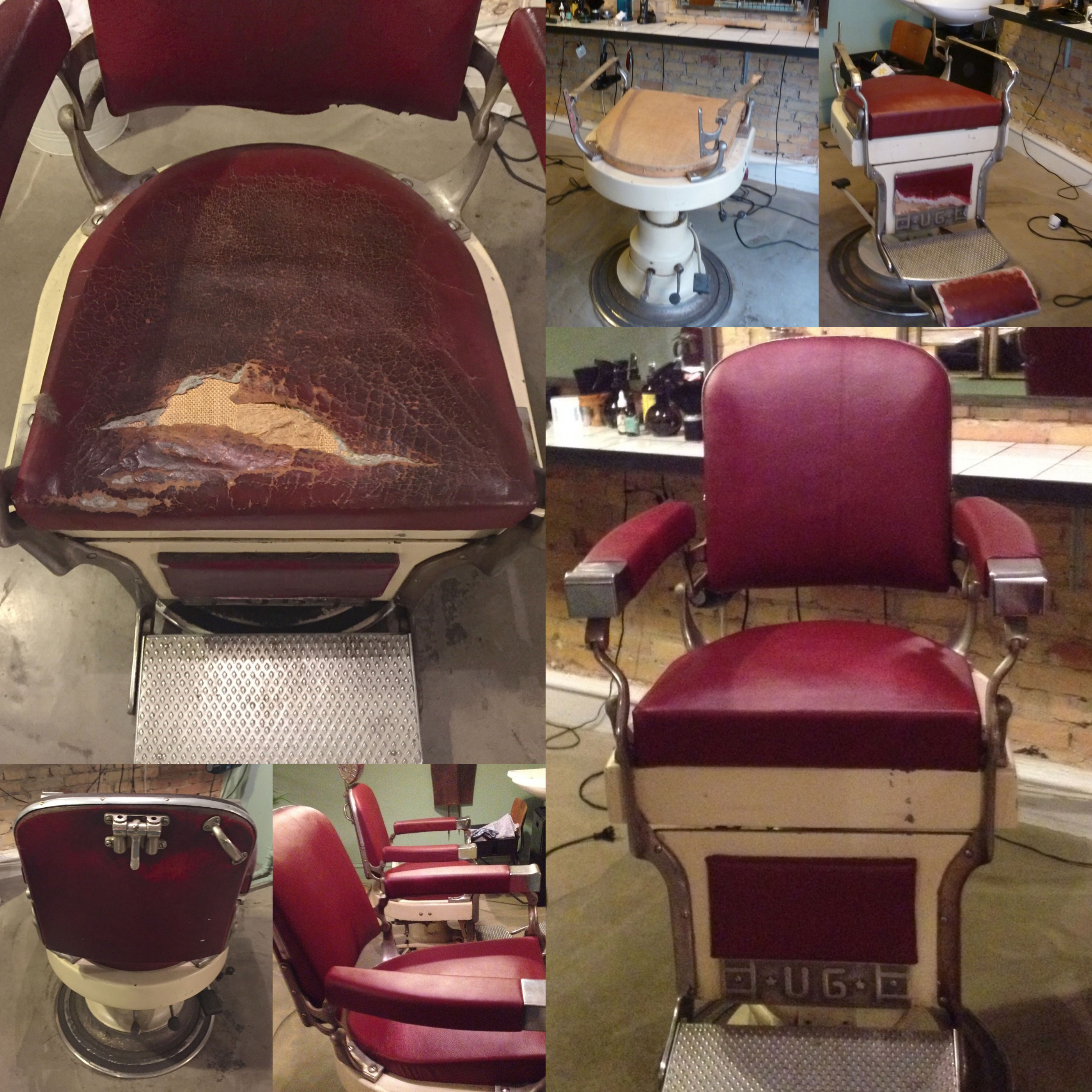Refurbishment Of Barbers Chairs